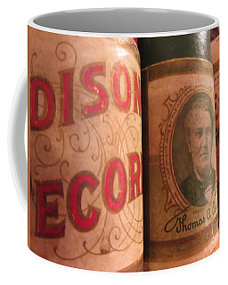 Coffee Mug featuring the photograph Edison - Vintage Record by Susan Carella