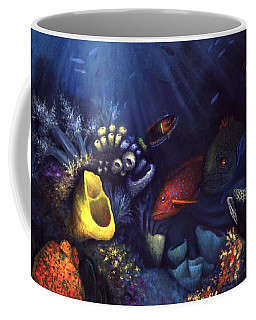 Coffee Mug featuring the painting Eel by Lynn Buettner