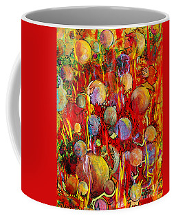 Coffee Mug featuring the painting Effervesce by Nancy Cupp