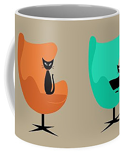Coffee Mug featuring the digital art Egg Chairs by Donna Mibus