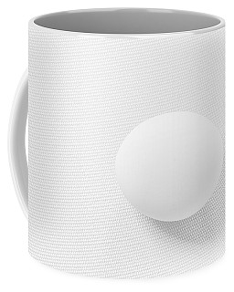 Egg On White Tablecloth Coffee Mug by Ludwig Keck