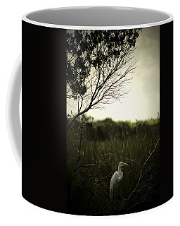 Egret At Sunset Coffee Mug