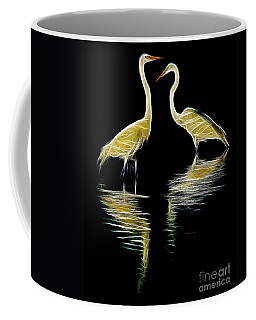 Egret Pair Coffee Mug by Jerry Fornarotto