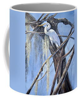 Egret Perch Coffee Mug