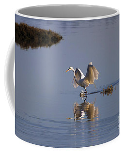 Egret Reflections Coffee Mug