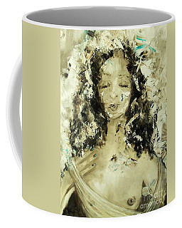Coffee Mug featuring the painting Egyptian Goddess by Laurie Lundquist