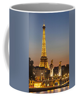 Coffee Mug featuring the photograph Eiffel At Twilight by Brian Jannsen