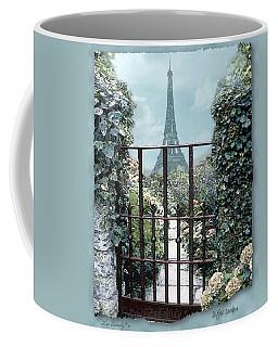 Eiffel Garden In Blue Coffee Mug