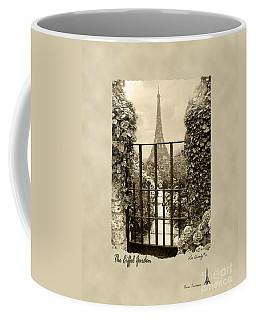 Eiffel Garden Sepia Coffee Mug
