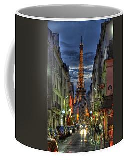Eiffel Over Paris Coffee Mug