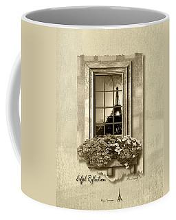 Eiffel Reflection In Sepia Coffee Mug