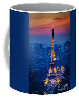 Coffee Mug featuring the photograph Eiffel Tower At Twilight by Brian Jannsen