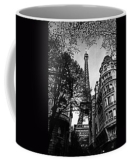 Eiffel Tower Black And White Coffee Mug by Andrew Fare