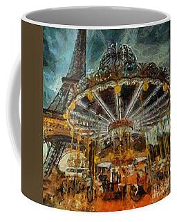 Eiffel Tower Carousel Coffee Mug