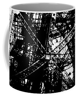 Coffee Mug featuring the photograph Eiffel Tower Detail  by Joey Agbayani