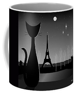 Coffee Mug featuring the digital art Eiffel Tower by Donna Mibus