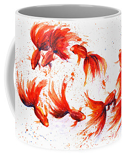 Eight Dancing Goldfish  Coffee Mug
