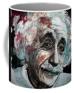 Coffee Mug featuring the painting Einstein  by Laur Iduc