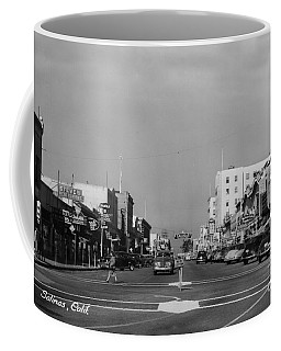El Rey Theater Main Street Salinas Circa 1950 Coffee Mug