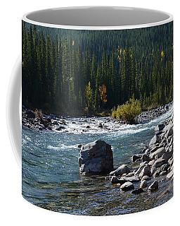 Elbow River Rock Art Coffee Mug by Cheryl Miller