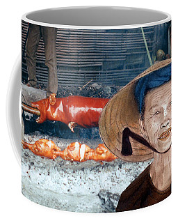 Elderly Vietnamese Woman Wearing A Conical Hat Altered Version Coffee Mug by Jim Fitzpatrick