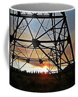 Coffee Mug featuring the photograph Elecrical Tower Architecture by Jennifer Muller