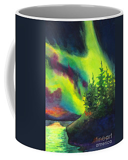 Electric Green In The Sky 2 Coffee Mug