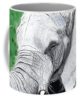 Coffee Mug featuring the painting Elephant 1 by Jeanne Fischer
