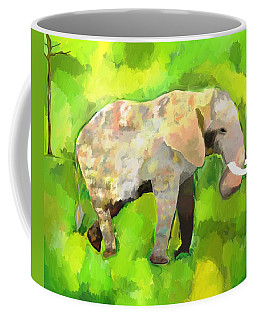 Coffee Mug featuring the painting Elephant 4 by Jeanne Fischer