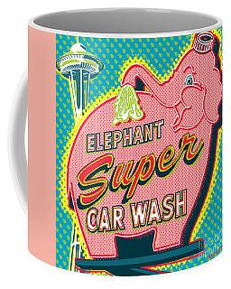 Elephant Car Wash And Space Needle - Seattle Coffee Mug