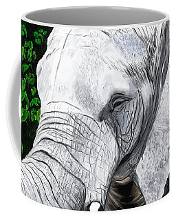 Coffee Mug featuring the painting Elephant II by Jeanne Fischer