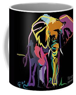 Elephant In Colour Coffee Mug