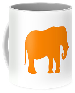 Elephant In Orange And White Coffee Mug