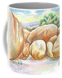 Coffee Mug featuring the painting Elephant Rocks State Park II  No C103 by Kip DeVore