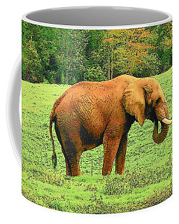 Coffee Mug featuring the photograph Elephant by Rodney Lee Williams
