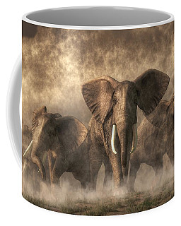 Elephant Stampede Coffee Mug