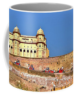 Elephants At The Amber Fort - Jaipur India Coffee Mug