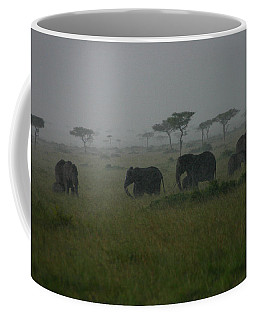 Elephants In Heavy Rain Coffee Mug