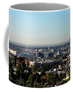 Elevated View Of City, Los Angeles Coffee Mug