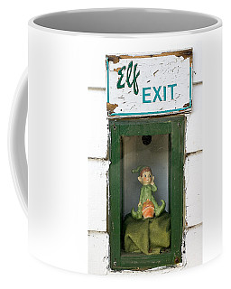 elf exit, Dubuque, Iowa Coffee Mug
