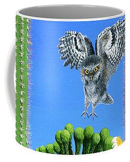 Elf Owls Of Saguaro Desert Coffee Mug
