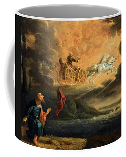 Elijah Taken Up Into Heaven In The Chariot Of Fire Coffee Mug