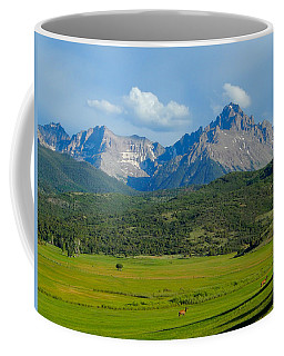 Elk Below Mount Sneffels Coffee Mug