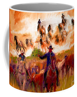 Elk Horse Round Up Coffee Mug