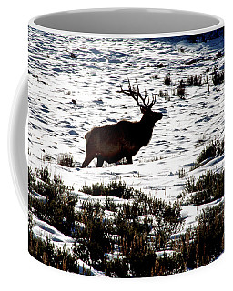 Elk Silhouette Coffee Mug by Sharon Elliott