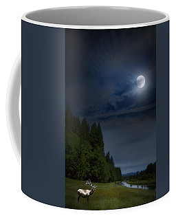 Elk Under A Full Moon Coffee Mug