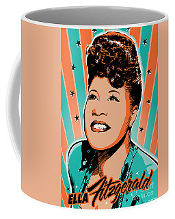 Ella Fitzgerald Pop Art Coffee Mug by Jim Zahniser