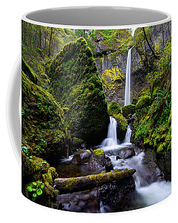 Coffee Mug featuring the photograph Elowah Falls by Dustin  LeFevre