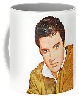 Elvis Colored Portrait Coffee Mug
