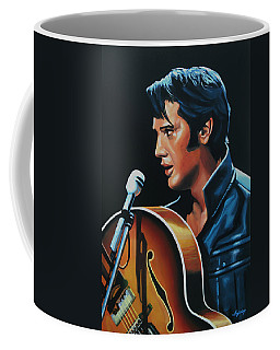 Elvis Presley 3 Painting Coffee Mug
